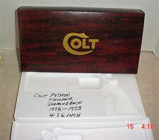Colt Python , Trooper, Diamondback Wood Grain- Box & Pw 1973-77