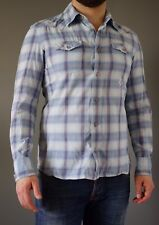 Diesel Western Button Up Shirt! Men's Plaid / Check Size S Small