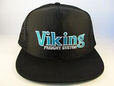 Viking Freight System Vintage Trucker Snapback Hat Cap Black