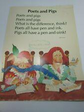 Vintage Poets and Pigs Grade School Poster John Schaum Lithograph 30215
