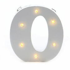 """LED Buchstabe """"O"""" mit Beleuchtung Geburtstagsdeko Batteriebetrieben Alphabet ABC"""
