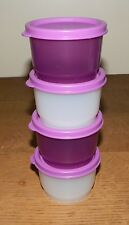 Tupperware 4 oz. SNACK CUP Set of 4 MULBERRY Purple SHEER
