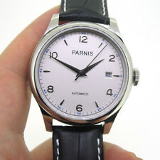 Parnis Miyota Automatic Movement Men Mechanical Watch Sapphire Glass White Dial