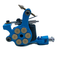 Blue Bullet chamber Professional Tattoo Machine for power supply gun clip cord