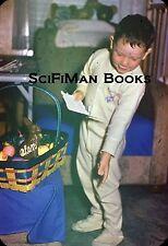 EASYMOUNT 35mm Slide Cute Little Boy Pajamas Easter Eggs Basket Bunny 1950s!!!