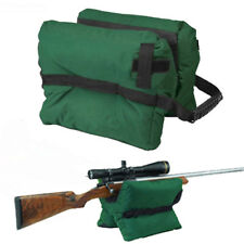 Shooter's Gun Bench Stand Rest Front Sand Bags for Shooting Hunting Rifle Green
