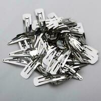 Bulk Lot 50 Silver Metal 50mm Prong Hair Clips for Hair Bow DIY Craft