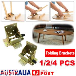 2/4X Folding Table Leg Brackets Fittings Self Lock Extension Foldable Hinge DIY