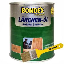 2,5 Liter Bondex Express Lärchen-Öl + Xyladecor Pinsel Lärchenöl Holzöl