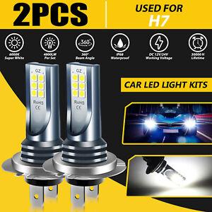 2PCS H7 LED Headlight Bulb Kit High Low Beam 110W Super Bright White Fog Light