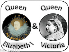 KS1 QUEEN ELIZABETH I & VICTORIA & comparison of time periods teaching resources