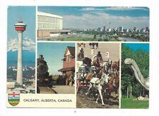 CALGARY ALBERTA multi-view postcard
