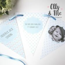 Personalised Baby/Child PHOTO Christening/Baptism Bunting/Banner Party Decor