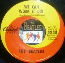"""*<* SALE! BEATLES """"WE CAN WORK IT OUT/DAY TRIPPER"""" '65 CLEAN VG/VG+ 1st press 45"""