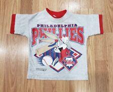 vtg 90s Philadelphia Phillies Looney Tunes Bugs Bunny Infant t-shirt Baseball