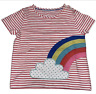 New ex Mini Boden Girls Rainbow Applique Short sleeved T Shirt ages 3 - 12 years