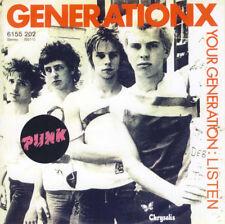 Generation X Your Generation / Listen New Versions Lurkers SLF Jam Rare Sleeve