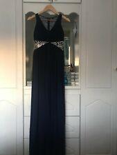 Elegant Midnight Blue Dress with Silver Details - Quiz - Size 10