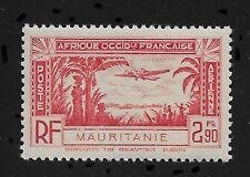 French Mauritania 1940 Omnibus Air Mail 2.90fr Sc # C2,XF Superb MNH**OG (FR-1)