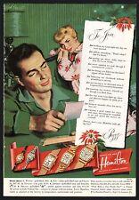 1951 HAMILTON Wenda Fay Donald Jeffrey Beldo Men's Ladies Antique Watch PRINT AD