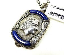 KONSTANTINO Sterling Silver Lapis Lazuli Alexander the Great Pendant Necklace