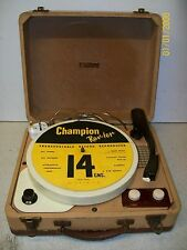Vintage 1950s CHAMPION Rev-ler Portable Valve Record Reproducer Player Serviced