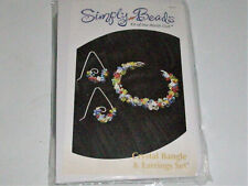 Simply Beads Kit Of The Month Crystal  Bangle & Earrings Set