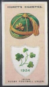 HIGNETT-INTERNATIONAL CAPS AND BADGES-#17- IRISH RUGBY FOOTBALL UNION