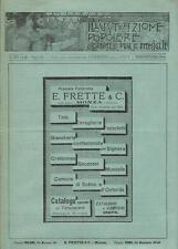 Stampa antica pubblicità E. FRETTE & C. Monza Milano Roma 1898 Old antique print