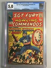Sgt. Fury and His Howling Commandos 13 - CGC 5.0 - Iconic Cover!!