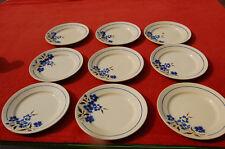 Badonviller 8 assiettes anciennes modèle Tunis plates 22,3 cm de diamètre