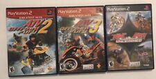 ATV Offroad Fury 2 & 3, MX vs ATV Three Games - Playstation 2  - PS2 Free Ship