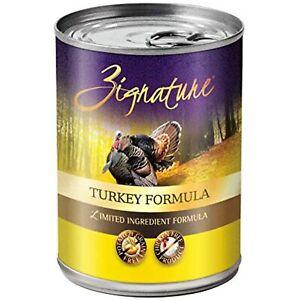 Zignature Turkey Formula Grain-Free Wet Dog Food 13oz, case of 12