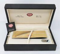 Scatola penna Aurora Permanento in argento con garanzia e panno lucidante