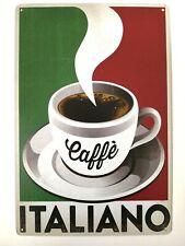 Targa caffè italiano coffee stampa metallo vintage retrò pub bar poster arredo