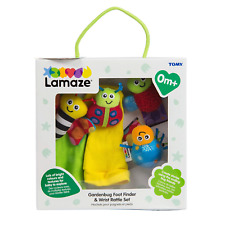 LAMAZE Gardenbug Foot Finder & Wrist Rattle Baby Gift Cute Foot Finder Baby Toy