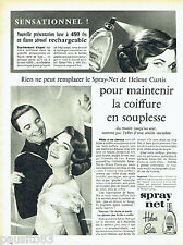 PUBLICITE ADVERTISING 016  1957  HELENE CURTIS   le spray-net  flacon aérosol