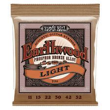 Ernie Ball Earthwood 11-52 Phosphor Bronze Light Acoustic Guitar Strings 2148