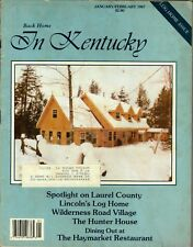 BACK HOME IN KENTUCKY MAGAZINE JANUARY/FEBRUARY 1987 LOG HOME ISSUE