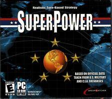 Superpower Super Power Pc Brand New XP War On Terrorism A World Simulator CIA