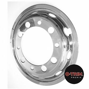 """One pair 22.5"""" Front O-Trim wheel Liners wheel Trims stainless steel"""