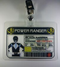 Power Rangers Identificación Badge-Black Ranger Disfraz para Cosplay