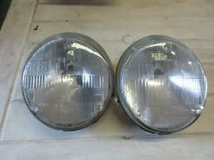 Porsche 911 930 964 OEM BOSCH H5 Headlights Headlamps Pair 911.631.119.00