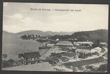 Postcard Sabang Aceh Dutch Indonesia at Havengezicht van boven posted 1909