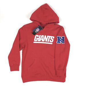 New York Giants NFL Pro Line Fanatics Youth Medium 10-12 Red Hoodie Sweatshirt