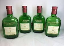 4 Buchanan's DeLuxe Scotch Whisky Empty Bottles