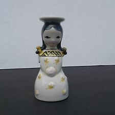 Vintage Danish Modern Nymolle Denmark Girl Angel Candle Holder Stick Candlestick