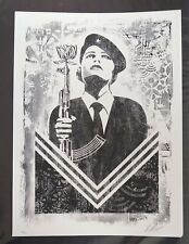 Shepard Fairey Peace Guard Woman signed print Obey Giant poster -/400