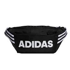 adidas CL 3 Stripes Waist Pack  Sack Belt Cross Body Casual Bag Black FM6882