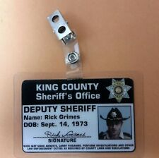The Walking Dead Id Badge - Deputy Sheriff Rick Grimes cosplay costume prop